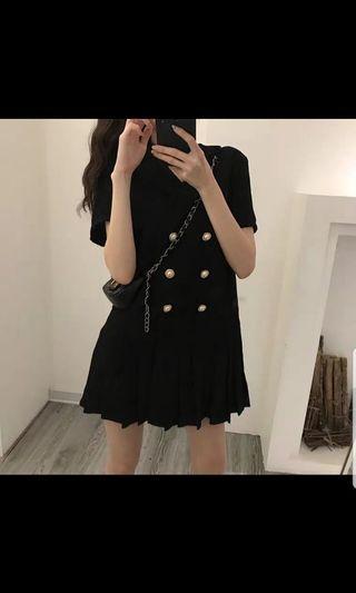 Black Buttoned Down Dress