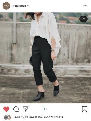 Amygo store x Malvava Boyfriend Pants - Black #ramadanbermanfaat