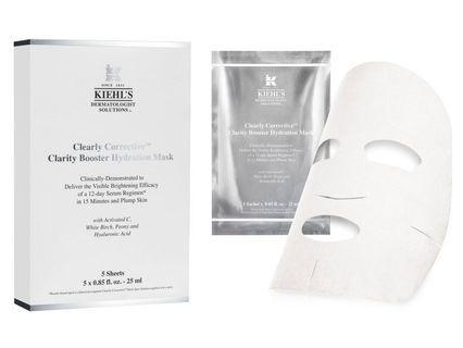 55折 Kiehl's Clearly Corrective Clarity Booster Hydration Mask 醫學維C亮白保濕精華面膜 5片