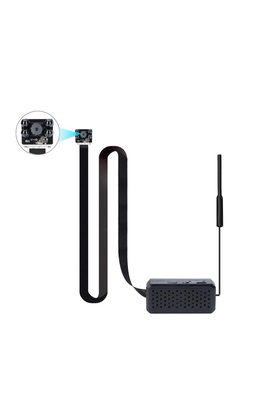 4K Ultra-HD Mini Wireless Spy Camera with Extra Long Cable +