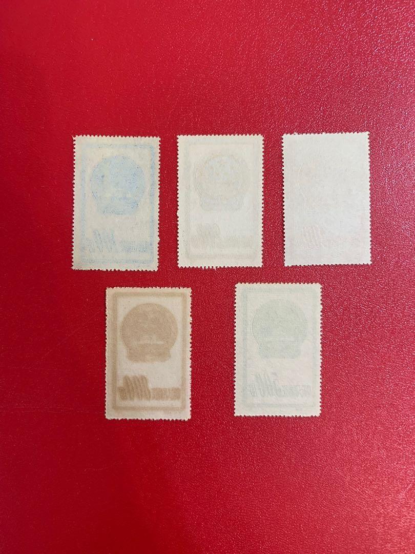 中國郵票 特1-國徽(再版)郵票一套
