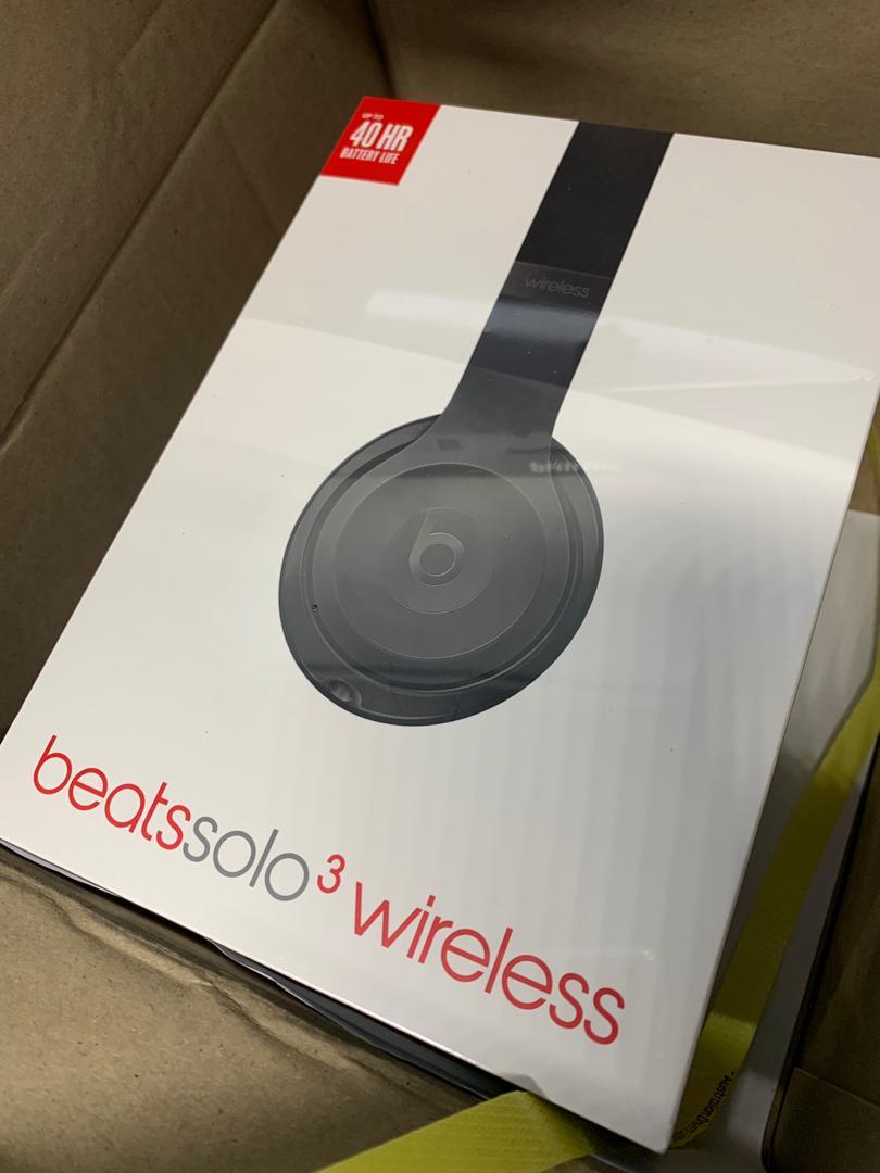 Brand new matte black beats solo 3 black headphones