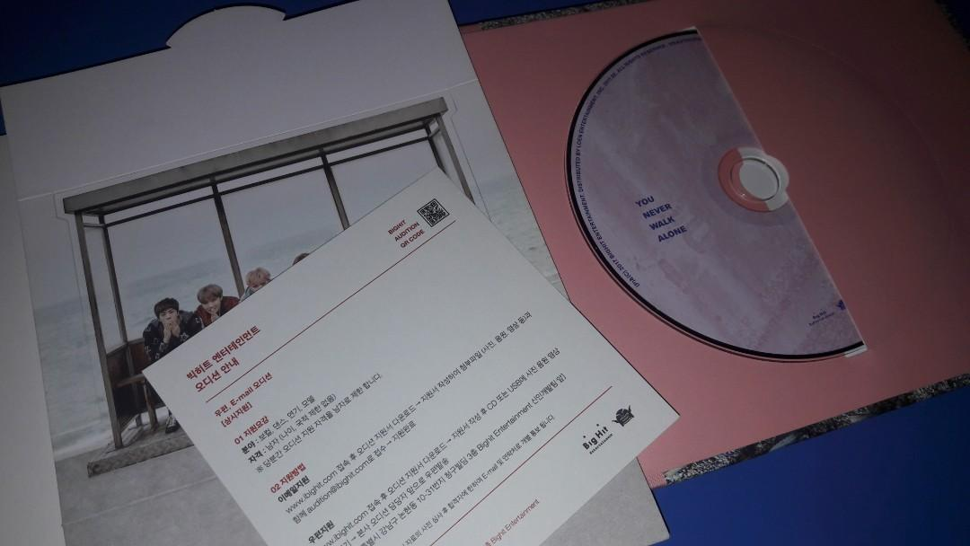 BTS You Never Walk Alone Pink Ver. Album Only (No PC)