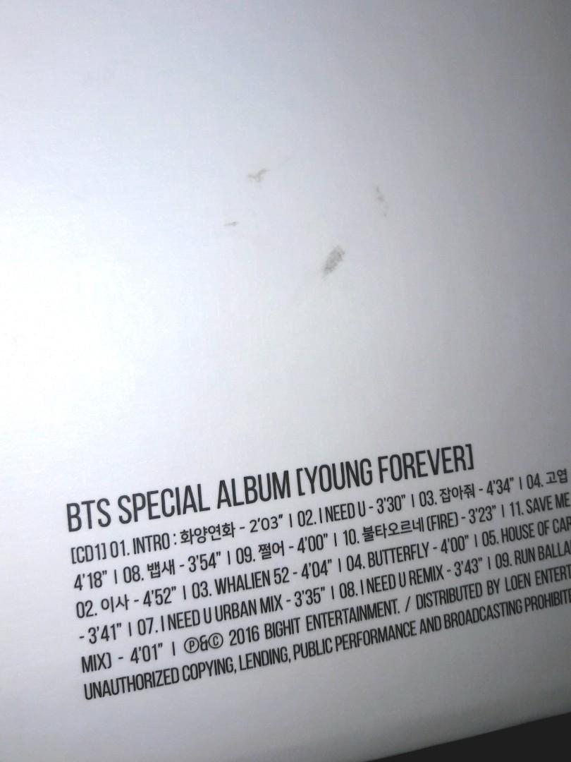 BTS Young Forever Day Ver. Album Only (No PC)