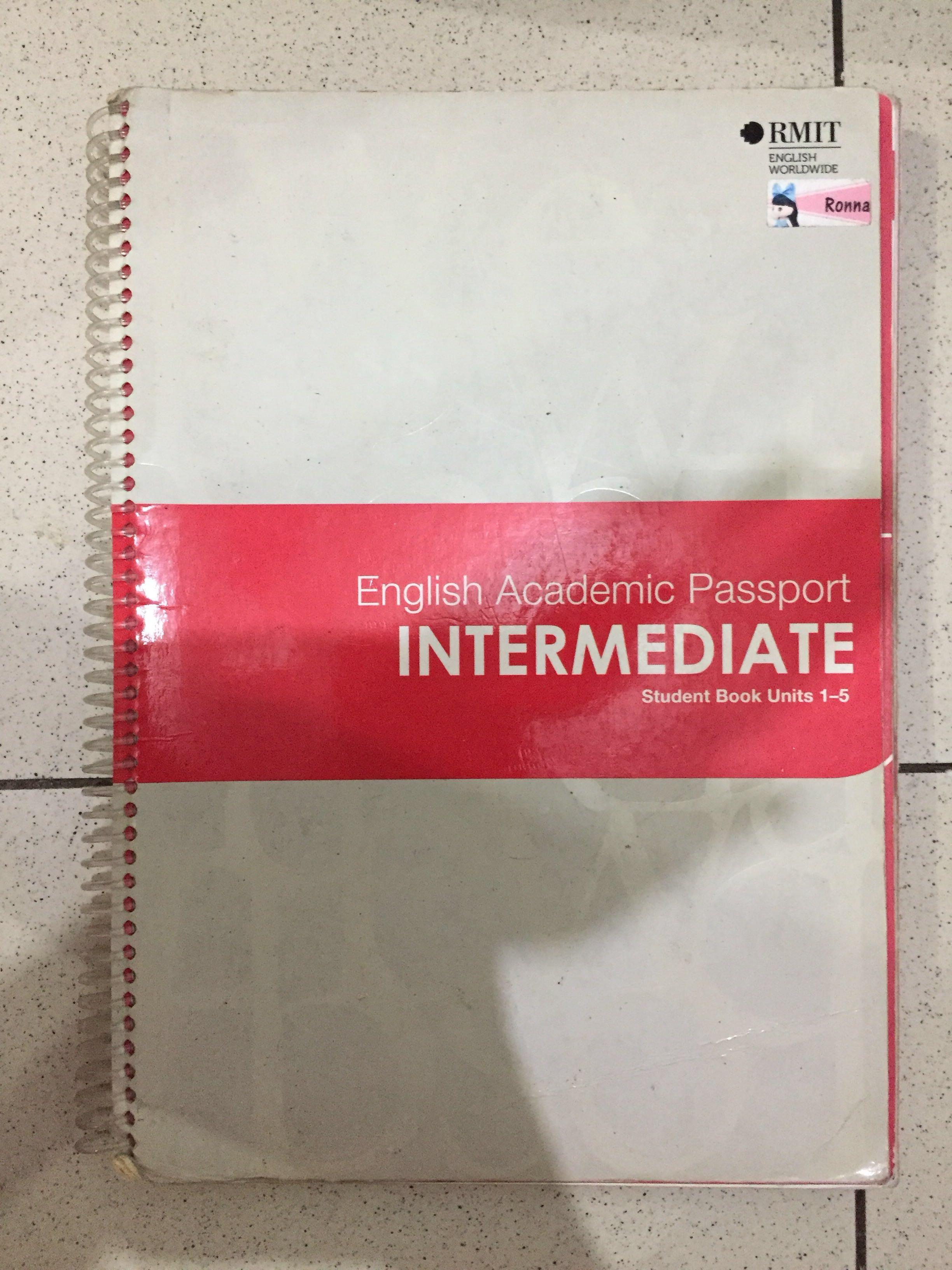 Buku Bahasa Inggris RMIT Training English Worldwide Student Book English Grammar Toefl Ielts Academic Passport