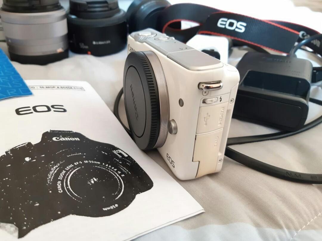 Canon m10 putih lengkap NEGO