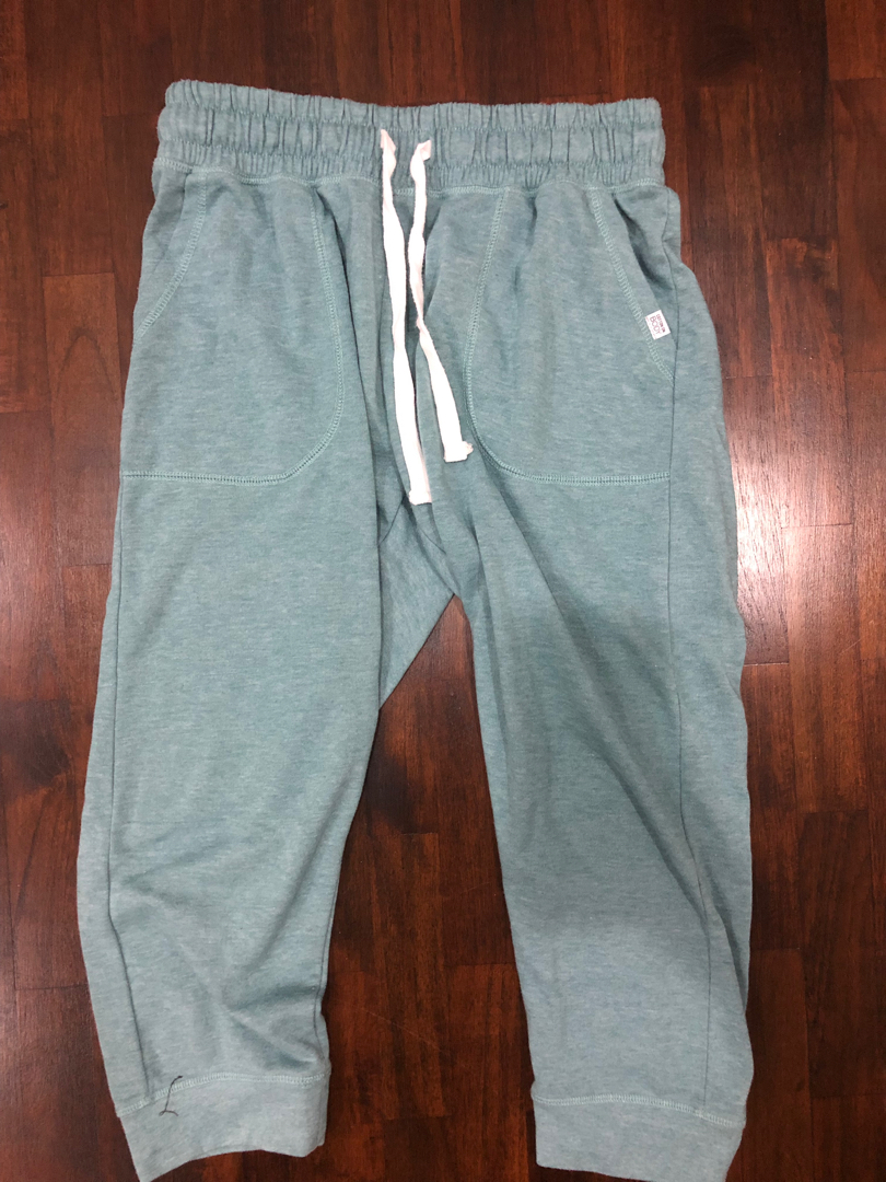 cheapest price perfect quality great discount cotton on 3/4 turquoise sweatpants