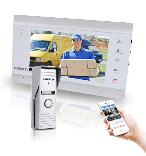 E2016) IP Video Doorbell Intercom with 1x Wireless Montior