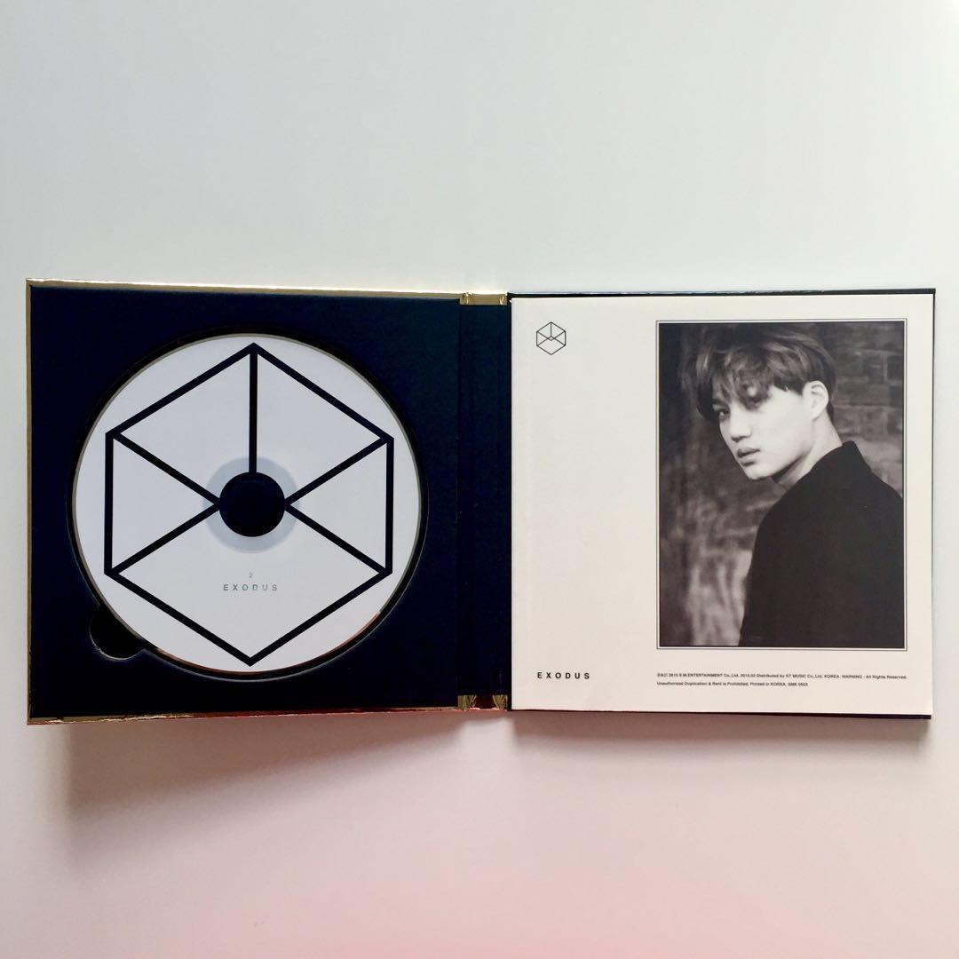 EXO Exodus Album Korean Version Kai Kim Jongin Cover