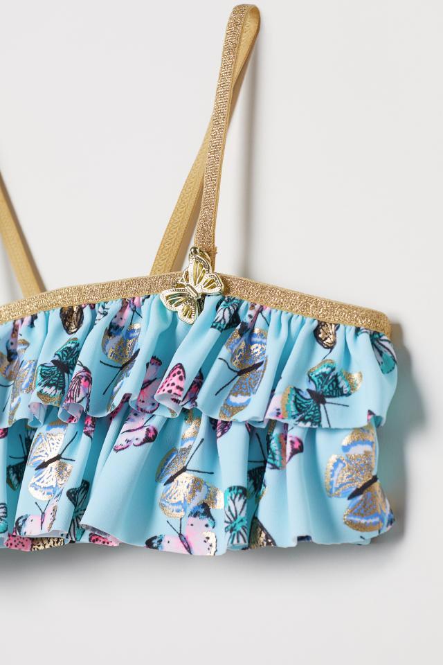 H&M - Patterned Ruffled Bikini