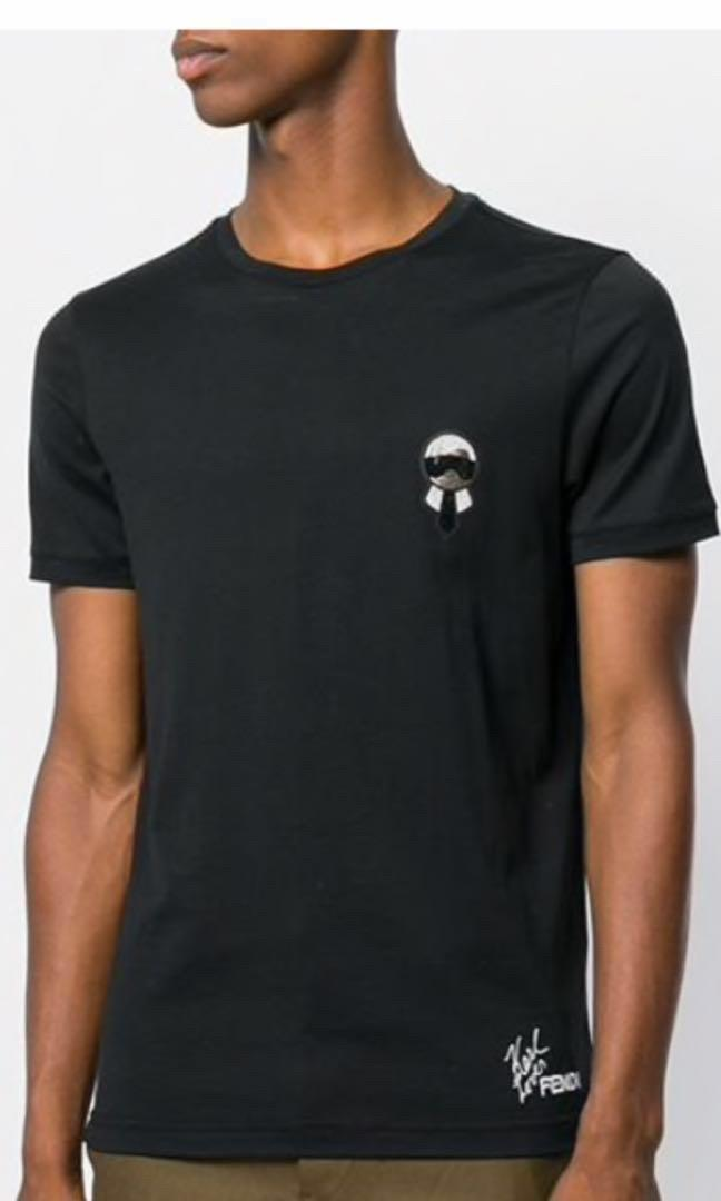 Karlito motif T-shirt New 100% (Black)
