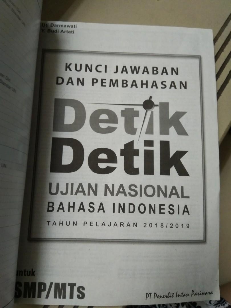 Kunci Jawaban Detik Detik Sd 2018 Bahasa Indonesia Gudang Kunci