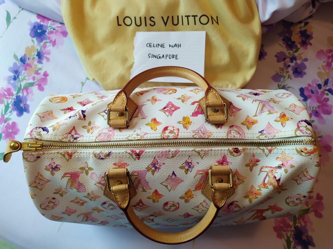 Authentic Super Rare Limited Edition Louis Vuitton LV Watercolour Aquarelle Speedy 35 Bag Handbag