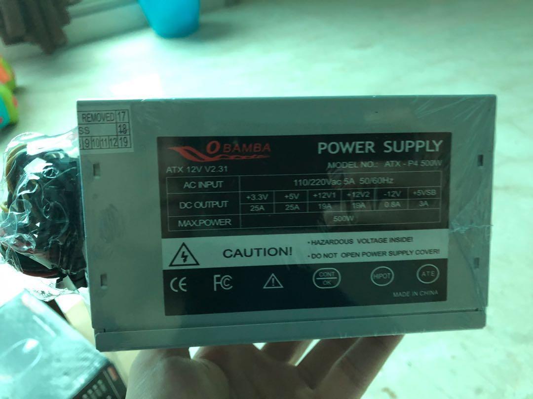 Obamba Power Supply Unit 500 W 80+ Bronze