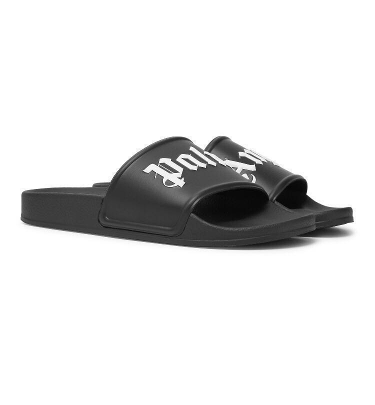 9540c1e29 Palm Angels Logo-Print Slides (101% Authentic), Men's Fashion ...