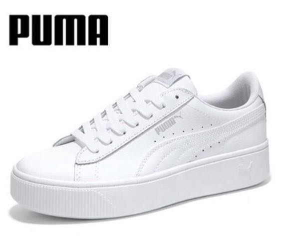 61a6bc136 PO] PUMA WOMEN's VIKKY STACKED L PLATFORM SNEAKERS SHOES, Women's ...