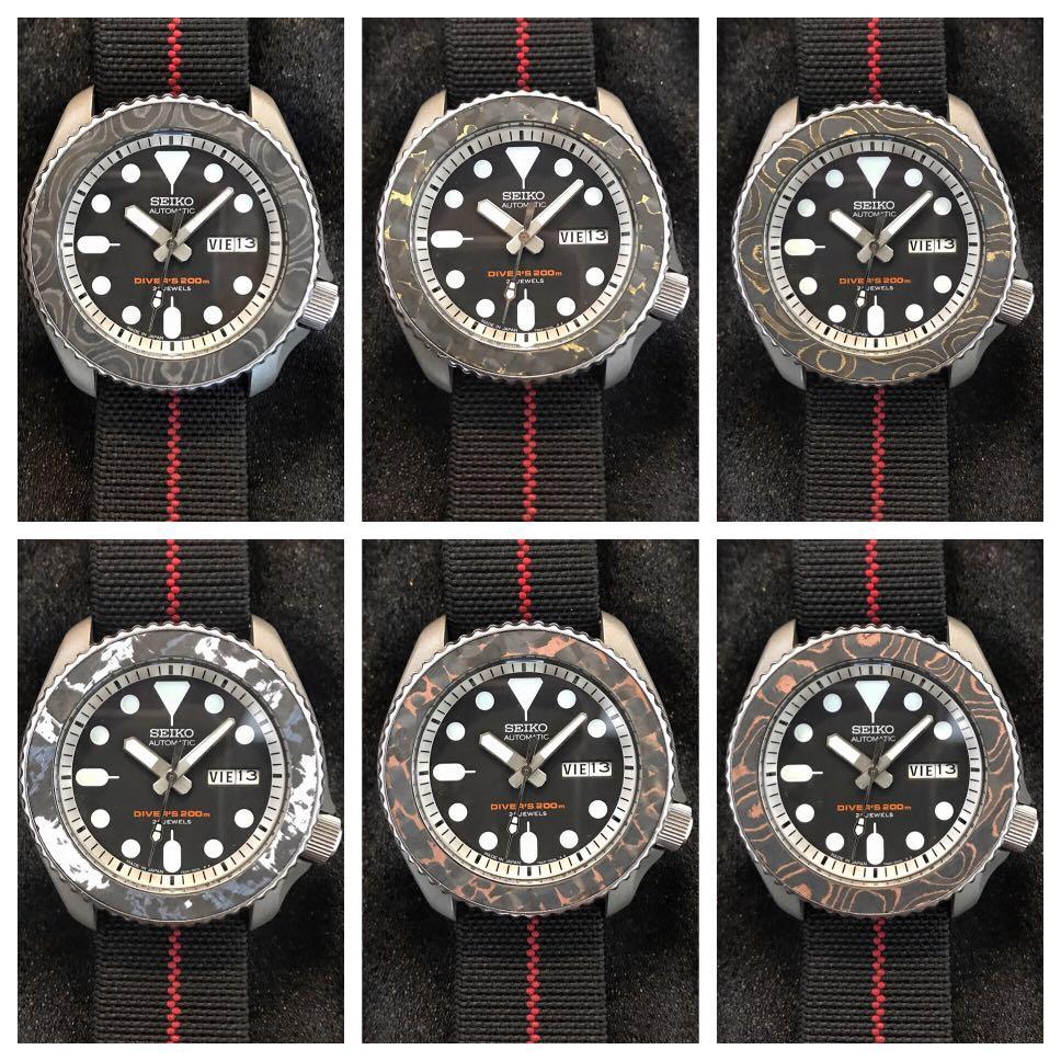 Seiko Bezel Insert Carbon fiber, Men's Fashion, Watches on