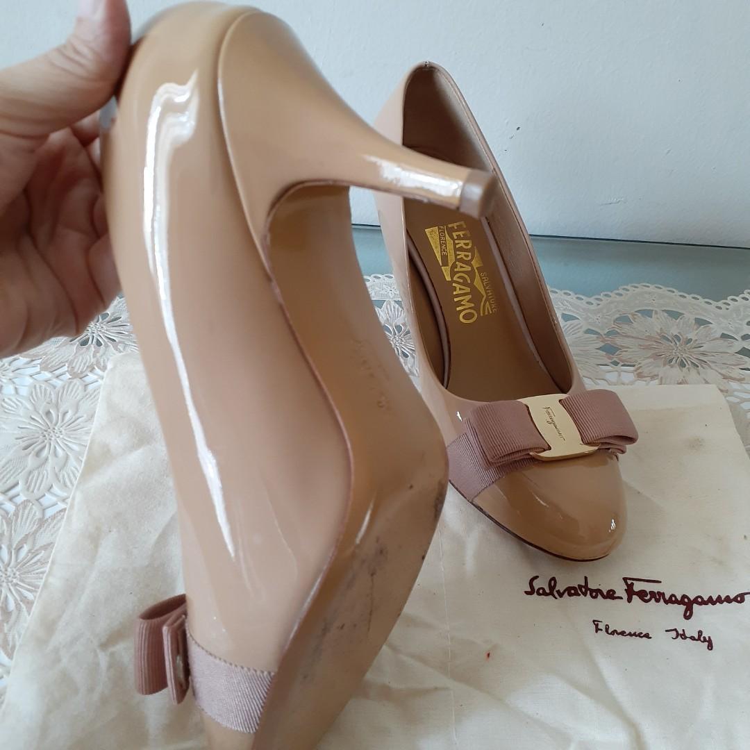 Sepatu Salvatore Ferragamo SF heels 5cm pump