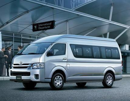 Toyota Hiace Hi-Roof 13 Seater chauffeuring  (Weekends)