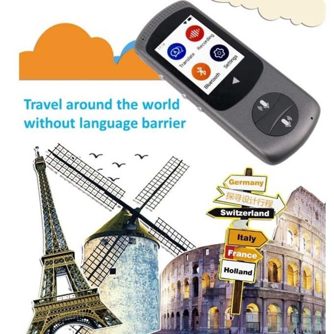 TranSay WiFi 旅行神器 最強翻譯王 智能雙向即時翻譯機 (支持43個國家/地區語言包括廣東話)