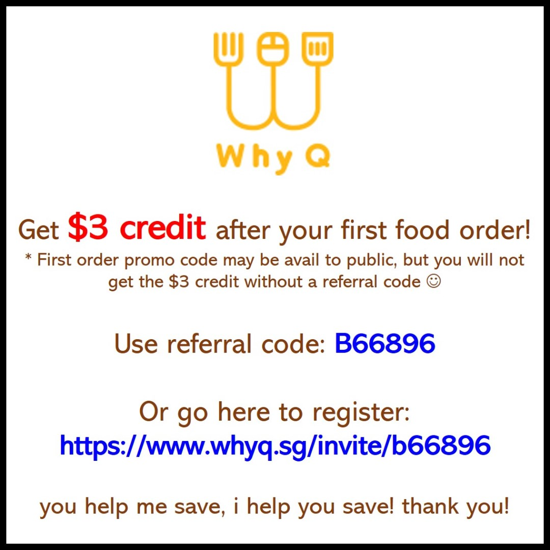 623d3f4be74 WhyQ - Food Delivery | Promo Code | Discount Code } Referral Code |  Referral Credit