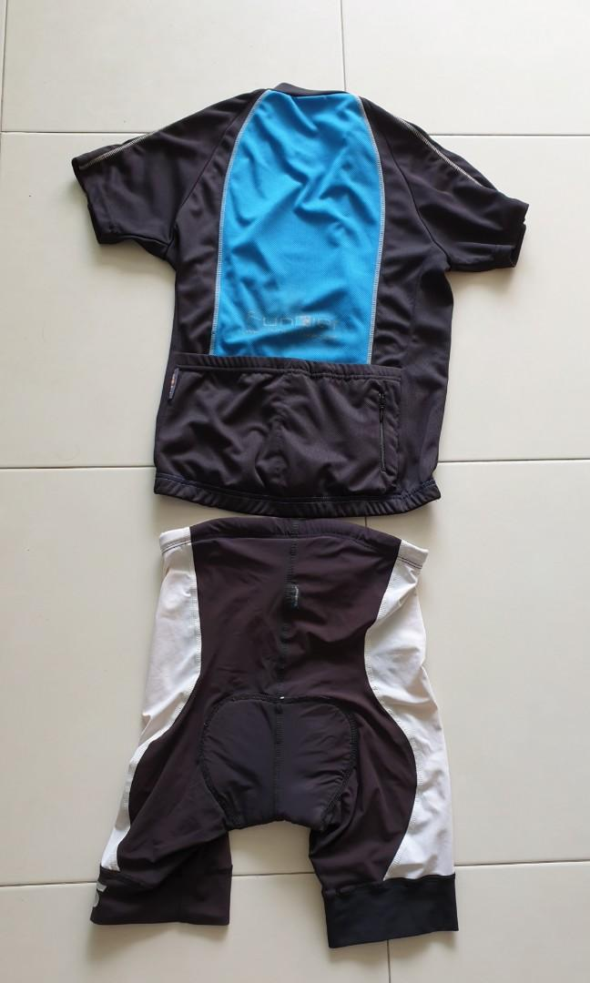 Funkier cycling jersey & SLS3 compression tri shorts (for 1.5-1.6m, waist 28-30inch)