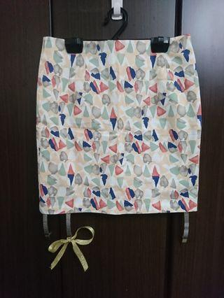 全新 正韓 繽紛塗鴉色塊 窄裙 包臀裙