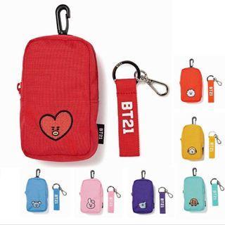 🚚 KPOP BTS BT21 Shoulder Pouch Bag Charm