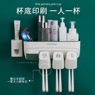 🚚 大容量牙刷置物架