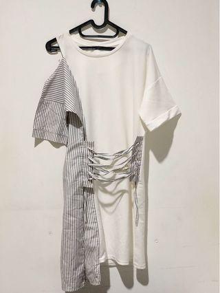 White Combi Dress