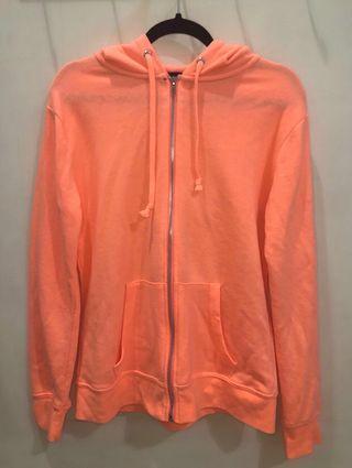 COTTON ON orange zip up hoodie