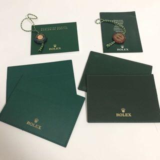 Rolex Warranty Card Holder Set