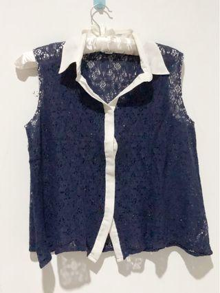 Blue Lace Top Forever 21