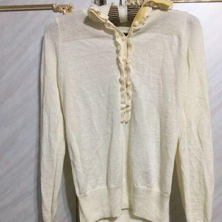 🚚 MASTINA氣質有型的白色針織上衣(全新)便宜出售中(肩27cm 胸40cm 衣長57cm)