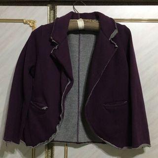 🚚 紫色西裝外套galoop,休閒中又不失正式(近全新)