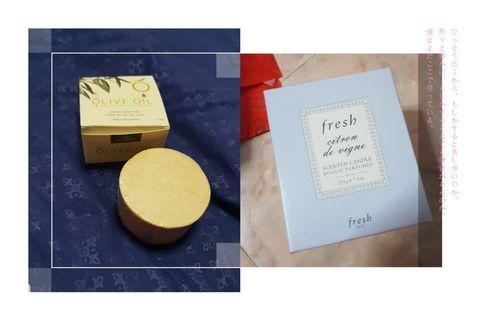 🚚 Bundle deal for 2 (FRESH Scented candle & unscented olive oil soap)