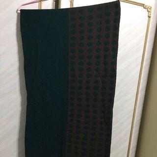 🚚 綠色可愛度滿分的點點圍巾(便宜出售近七成新)
