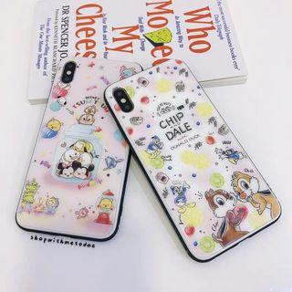Chip & Dale Tsum Glass Iphone XR / XS Max / X / 8plus casing