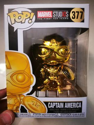 Pop Captain America #377 Metallic, Marvel 10th version