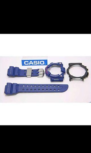 100% Authentic new sealed Casio G-Shock Men in Navy Frogman GF GWF-1000NV-2 Band, Bezel & Back cover Set rare