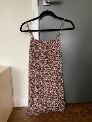 brandy melville floral pink dress
