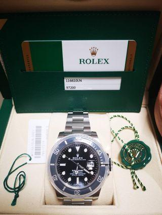 Brand New Old Stock Rolex Submariner Date 116610LN
