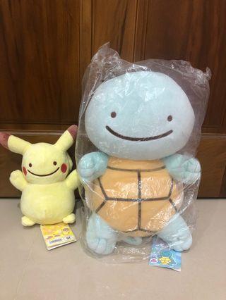 🚚 神奇寶貝百變怪款✨大隻傑尼龜+小隻皮卡丘✨降價售