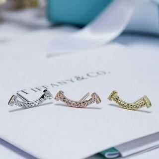 Tiffany 蒂芙尼 最新 雙T系列耳釘