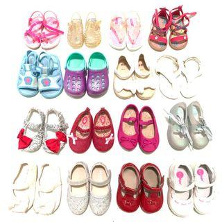 BABY GIRL's SHOES FOR SALE 3mosa9mos size