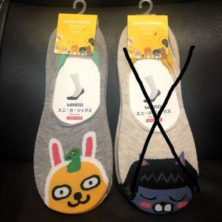 (包郵)全新Kakao Friends Muzi/ Neo 女裝船襪socks一set 2對