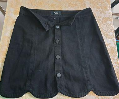 Paige black denim skirt