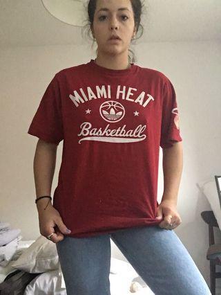 Authentic Adidas Miami Heat shirt