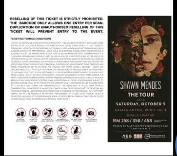 Shawn mendes cat 2 tickets