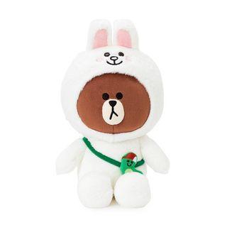 (正版全新)Line 公仔熊大 變身兔兔玩偶 Brown x Cony Plush Doll